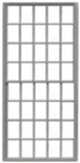 "Tichy 3521 S 20/20 Pane Double-Hung Masonry Window w/Precut Glazing 42 x 84"" Scale Pkg 8"