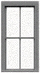 "Tichy 3525 S 2/2 Pane Double-Hung Window w/Precut Glazing 25 x 57"" Scale Pkg 8"