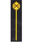 Tichy 3539 S Post-1950 Early Grade Crossing Warning Sign Circle w/Diagonal RXR Cross Pkg 8