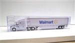 Trucks n Stuff TNS019 HO Peterbilt 579 Sleeper Cab Tractor with 53' Dry Van Trailer Assembled Walmart