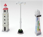 Tomy 261988 N Lighted OutDoor Accessories 1 Each Clock Tower Flower Statue Large Overhead Light