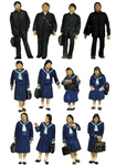 Tomy 266068 N Japanese Students in Winter Uniforms pkg 12 738-266068