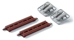"Tomy 3247 N Through Girder Bridge 2-Pack Fine Track Red 2.75"" 70mm 738-3247"