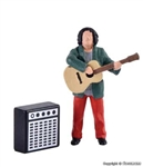 Viessmann 1510 HO Animated Street Musician with Guitar and Amplifier Add Sound with 769-5577 Sold Separately