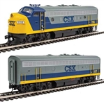 Walthers 19950 HO EMD F7 A-B Set ESU Sound and DCC CSX #116, #117