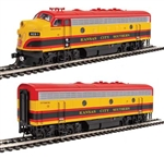 Walthers 19952 HO EMD F7 A-B Set ESU Sound and DCC Kansas City Southern #1 Shreveport, #3 Pittsburg