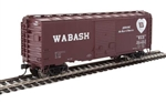 Walthers 2268 HO 40' ACF Welded Boxcar w/8' Youngstown Door Wabash #90303