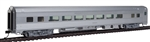 Walthers 30000 HO 85' Budd Large-Window Coach Painted Unlettered Silver
