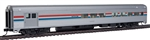 Walthers 30051 HO 85' Budd Baggage-Lounge Amtrak Phase III Equal Stripes