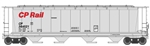 Walthers 7816 HO 59' Cylindrical Hopper Canadian Pacific #384521