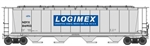 Walthers 7820 HO 59' Cylindrical Hopper Logimex NDYX #816903
