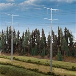 Walthers 9333343 HO Modern High Voltage Transmission Towers Kit