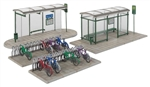 Walthers 3552 HO Modern Bus Shelter Kit w/Accessories