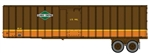 Walthers 2601 HO Flexi-Van 40' Trailer 2-Pack Assembled Illinois Central