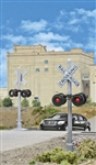 Walthers 4333 HO Crossing Flashers Set of 2 Working Signals Use w/ Crossing Signal Controller