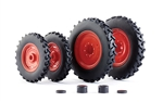 Wiking 77395 1/32 Row Crop Wheels for Claas Arion 400 Series Farm Machinery 1 Set