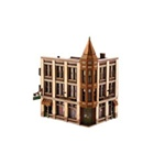Woodland 12800 HO Corner Department Store DPM s Kit