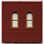 Woodland 30103 HO Modular Building System Dock Level Wall Sections w/Arched Windows Kit