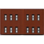 WOO60122 Woodland Scenics Co N DPM 2 Story Wall/12 Windows (3)