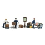 WOOA2211 Woodland Scenics Co N Depot Workers & Accessories