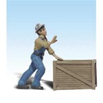 Woodland A2523 G Dock Worker w/Crate