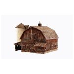 WOOBR4932 Woodland Scenics Co N Built-Up Old Weathered Barn