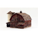 WOOBR5038 Woodland Scenics Co HO Built-Up Old Weathered Barn