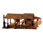 WOOBR5044 Woodland Scenics Co HO Built-Up Buzz's Sawmill