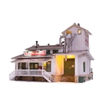 WOOBR5059 Woodland Scenics Co HO Built-Up H&H Feed Mill