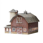 Woodland BR5865 O Built-Up Old Weathered Barn WOOBR5865