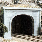 WOOC1156 Woodland Scenics Co N Double Tunnel Portal, Concrete (2)
