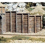 WOOC1160 Woodland Scenics Co N Retaining Wall, Timber (6)