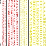 Woodland DT504 Railroad Roman Letters Red/Yellow