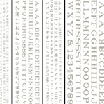 Woodland DT506 Railroad Roman Letters White