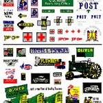 WOODT556 Woodland Scenics Co Dry Transfer, Assorted Logos/Advertising Signs