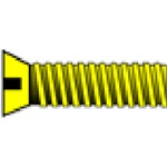 "Woodland H845 0-80 1/8"" Flat Head Machine Screw (5)"
