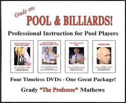 GRADY MATHEWS ON POOL - 4 DVDS