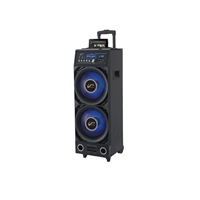 AOB P17-P1023BKFL Rechargeable Speaker w/EQ/Dock/Bluetooth/FM/AUX/USB/SD-In/Mic/Remote