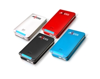 Axess PP3114 5000mAh Power Bank w/ 2.0 USB/MicroUSB/8-PIN/30-PIN Adapters