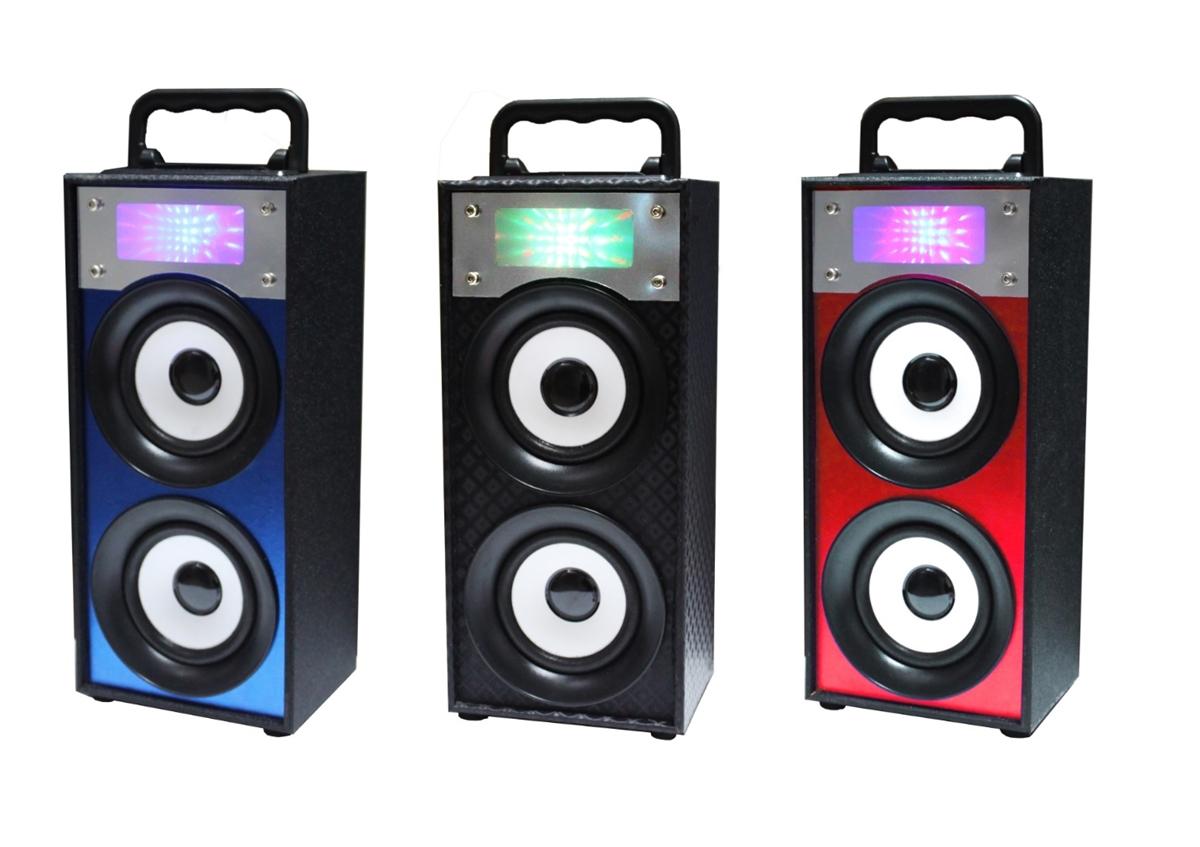 QFX BT-186 Rechargeable Pick-Up Truck Speaker Bluetooth+USB//SD//AUX+Disco Light