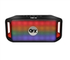 QFX BT-151 Rechargeable Bluetooth Speaker w/FM/USB/MicroSD/AUX In/Lights