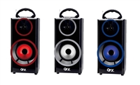 QFX BT-168 Rechargeable Speaker w/Bluetooth/FM/USB/SD In