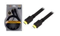 QFX HD-19 9Ft. Flat High Speed HDMI Cable with Ethernet