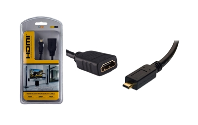 QFX HD-2 4-Inch Female HDMI Connector to Male Micro HDMI
