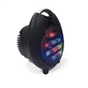QFX PBX-2100 Rechargeable Speaker w/Bluetooth/FM/USB/SD In/Mic/Lights