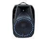QFX SBX-1504BTL PA Speaker with Built-In Amp/Bluetooth/LED Light/USB Player/Remote/FM/EQ