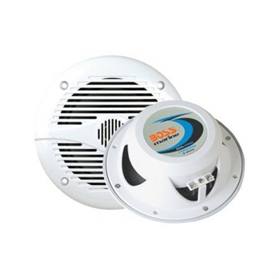 "BOSS MR50W 5.25"" 2-WAY 150W MARINE SPEAKERS WHITE"
