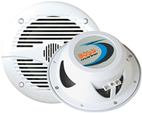 "BOSS MR60W 200 WATTS 6-1/2"" 2-WAY COAXIAL MARINE SPEAKERS - WHITE"