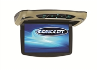 "Concept CFD-105 10.1"" Chameleon Series Flip-Down Monitor w/ Built-In DVD Player"