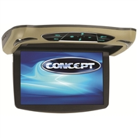 "Concept CFD-135 13.3"" Chameleon Series Flip-Down Monitor w/ Built-in DVD Player"